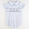 Smocked Storybook Rabbit Collared Boy Bubble