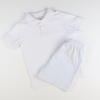 Signature Pique Polo - White