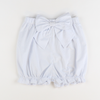 Seaside Seersucker Bow Bloomer Shorts - Light Blue