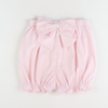 Seaside Seersucker Bow Bloomer Shorts - Light Pink