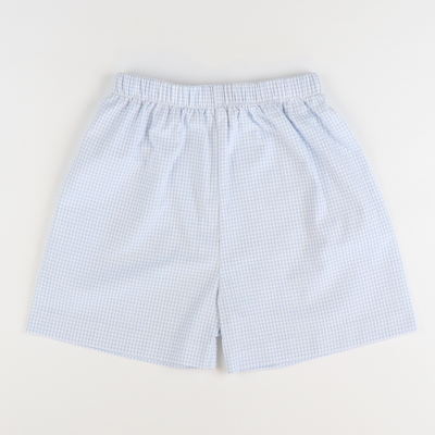 Signature Shorts - Light Blue Check Seersucker