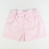 Seaside Seersucker Bow Shorts - Light Pink