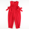 Holiday Red Corduroy Romper