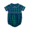 Blue & Green Plaid Boy Bubble