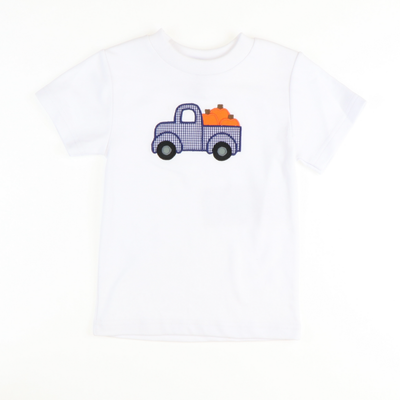Appliquéd Pumpkins & Truck Shirt