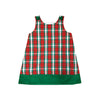 Red Plaid & Green Cord A-Line Jumper