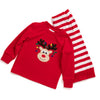 Red & White Knit Reindeer Face Loungewear