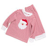 Red & White Stripe Knit Santa Face Loungewear