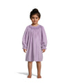 Smocked Geo Lavender Cord LS Bishop