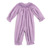 Smocked Geo Lavender Cord LS Bubble