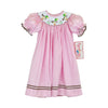 Smocked Mallard Pink Gingham Bishop