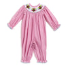 Smocked Turkey Hot Pink Gingham LS Bubble