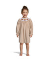 Smocked Turkey Tan Cord LS Bishop