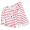 Bunny Appliqué Pink Stripe Lounge Wear Set