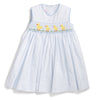 Smocked Yellow Ducklings Tie Back Dress
