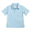 Light Blue Knit Pocket Polo