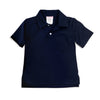 Navy Knit Pocket Polo