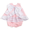 Pink Pique Bow Back Swing Top & Bloomer Set