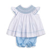 Smocked Geo Top & Bloomer Set