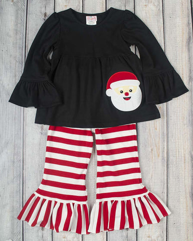 Santa Claus App Girls Knit Pant Set - Girls - Stellybelly - 1