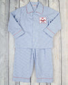 Smocked Blue Santa Boys Loungewear - Boys - Stellybelly - 1