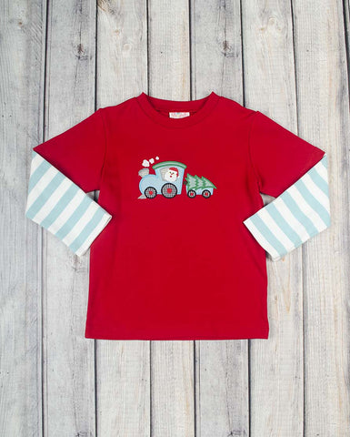 Santa Tree Train App Boys LS T-Shirt - Boys - Stellybelly - 1