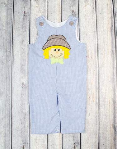 Blue Scarecrow Applique Longall - Boys - Stellybelly - 1