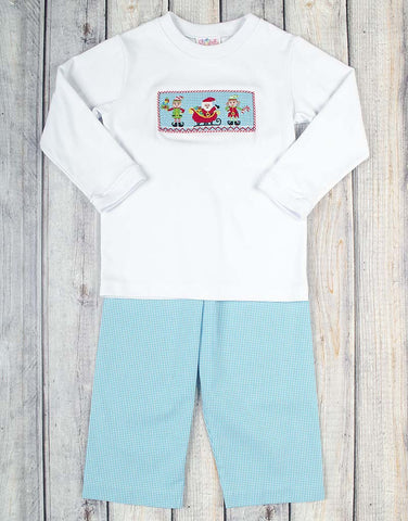 Smocked North Pole Pant Set - Boys - Stellybelly - 1
