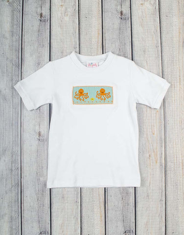 Smocked Octopus Boys T-Shirt - Boys - Stellybelly - 1