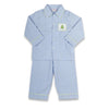 Smocked Blue Christmas Tree Boys Loungewear