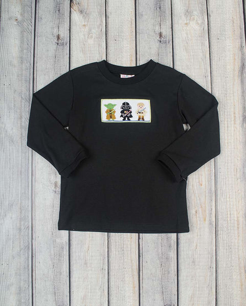 Smocked Space Buddies LS T-Shirt - Boys - Stellybelly - 1