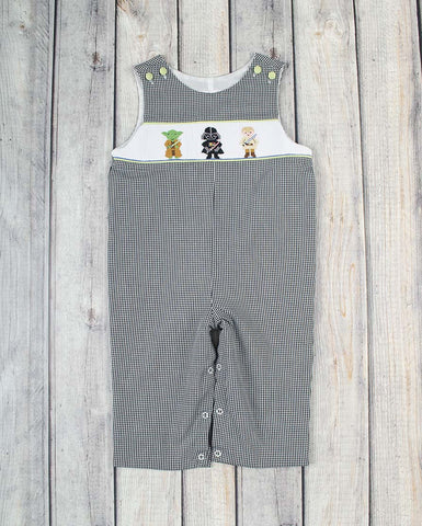 Smocked Space Buddies Longall - Boys - Stellybelly - 1