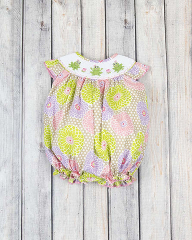 Smocked Summer Frog Bubble