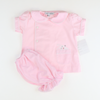 Embroidered Pink Bunny Set