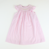 Smocked Floral Geo Pink Stripe Bishop