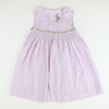 Smocked Floral Geo Lavender Stripe Dress