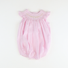 Smocked Floral Geo Pink Stripe Bubble