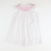 Smocked Floral Geo White Bishop