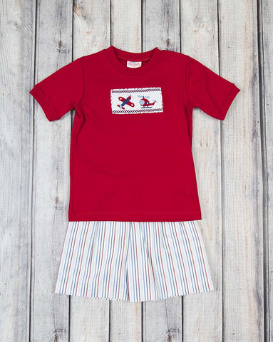 Smocked Take Flight Short Set