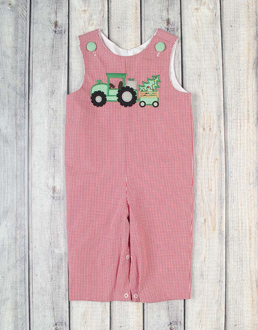 Tree Tractor Applique Longall - Boys - Stellybelly - 1