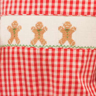 Smocked Gingerbread Boy Longall