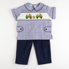 Smocked Trucks with Pumpkins Shirt & Pants Set