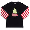 Santa Tree Applique LS T-Shirt