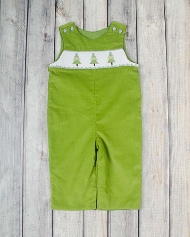 Smocked Festive Tree Longall - Boys - Stellybelly - 1