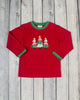 Red Christmas Tree App Boys LS T-Shirt - Boys - Stellybelly - 1