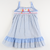 Smocked Sail Away Ruffle Dress - Saratoga Check Seersucker