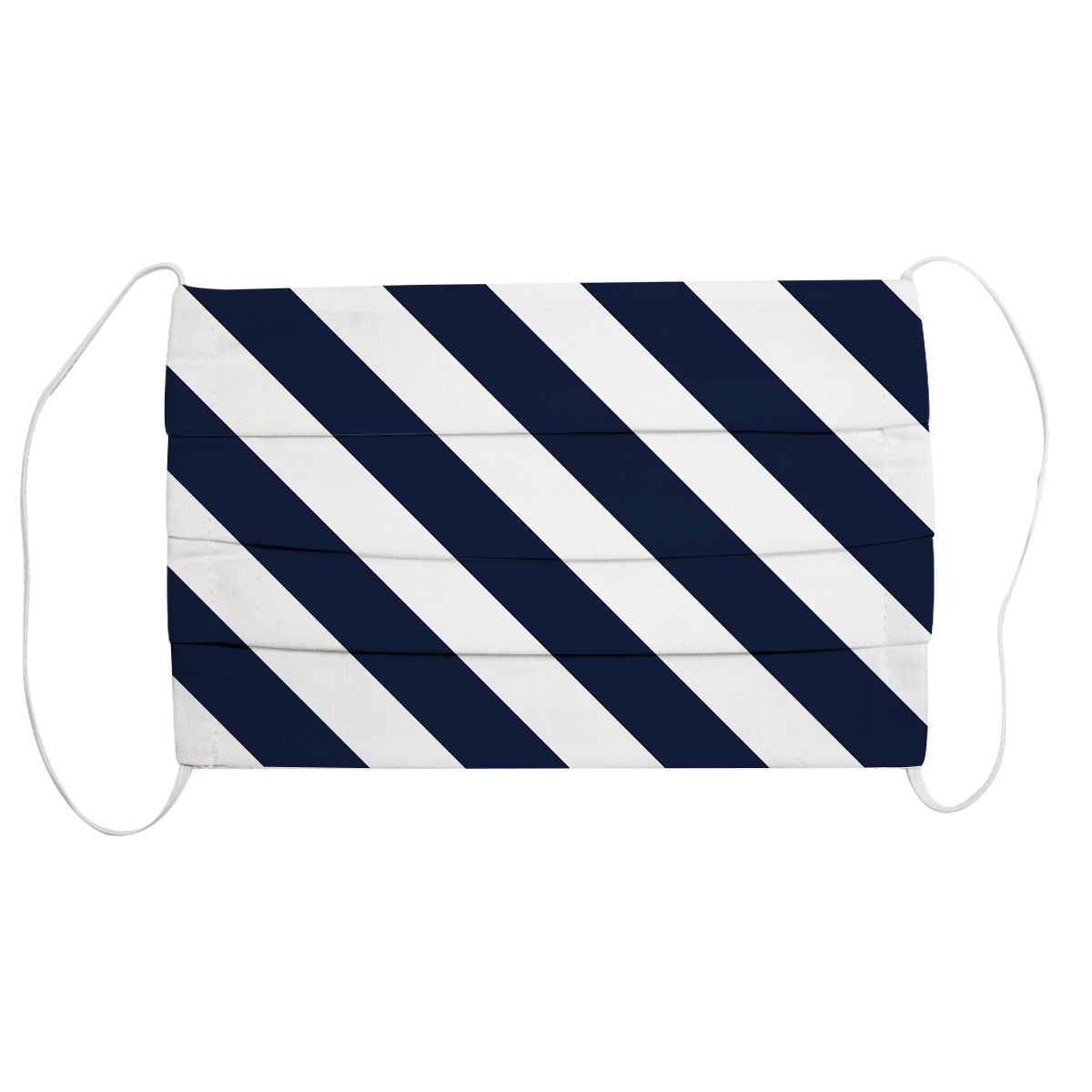Navy & White Stripe Face Mask