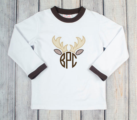 Deer Antler Long Sleeve Shirt
