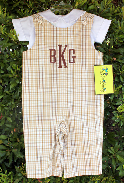 Brown/Khaki Plaid Longall - Boys - Stellybelly