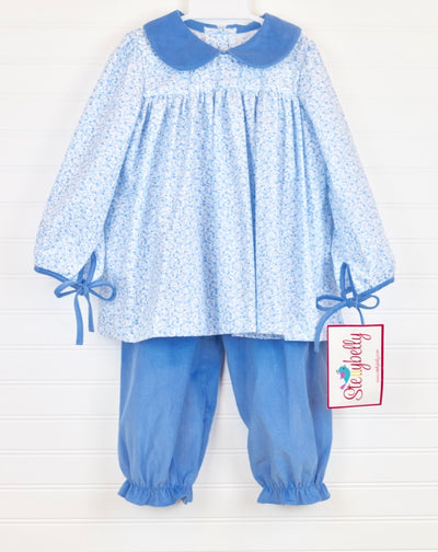 Blue Floral Long Charlotte Set